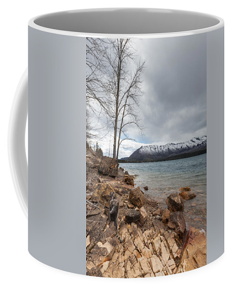 Lake Mcdonald Coffee Mug featuring the photograph Storm A Brewin by Fran Riley