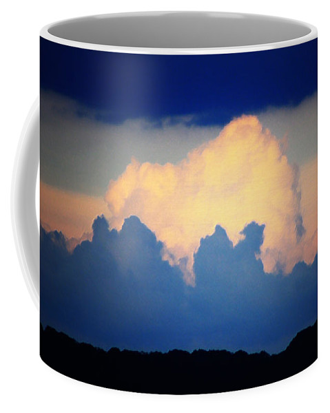West Coffee Mug featuring the digital art Storm Approaching Painting by Teresa Mucha