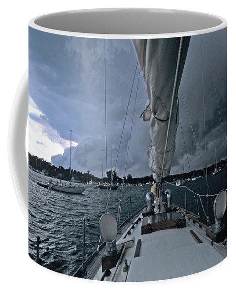Storm Coffee Mug featuring the photograph Storm At Put-in-bay by John Harmon