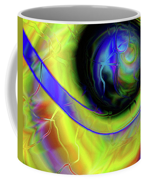 Abstract Coffee Mug featuring the digital art Storm by Barbara Gerry