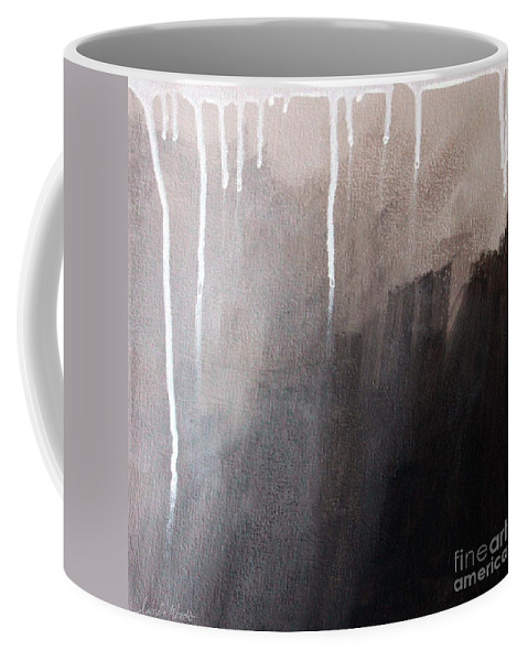 Abstract Coffee Mug featuring the mixed media Storm Brewing by Linda Woods
