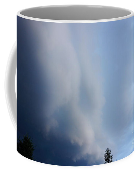 Storm Cloud Taking Over Coffee Mug featuring the photograph Storm Cloud Taking Over by Alice Heart