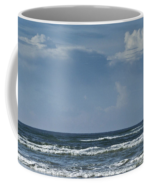 Ocean Coffee Mug featuring the photograph Storm Clouds On The Horizon Ocean Isle North Carolina by Teresa Mucha