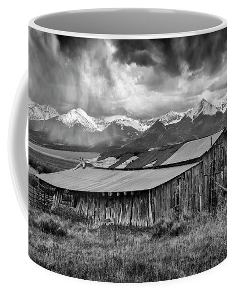 Colorado Photographs Coffee Mug featuring the photograph Storm In B And W by Gary Benson