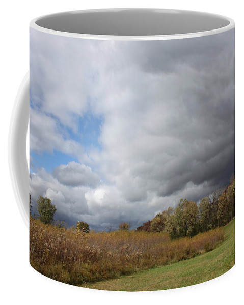 Landscape Coffee Mug featuring the photograph Storm Is Brewing by Lauri Novak