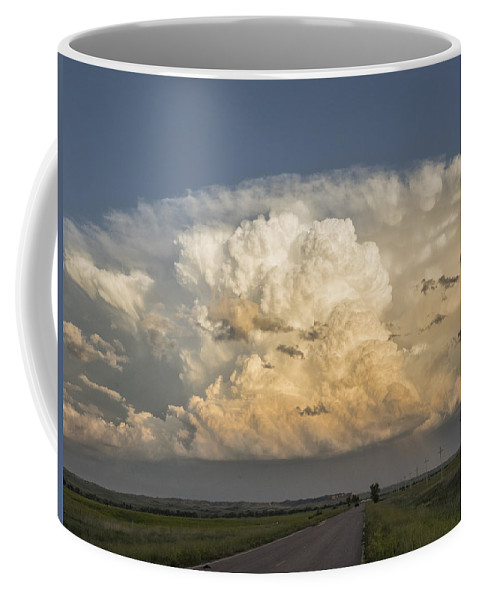 South Dakota Coffee Mug featuring the photograph Storm On The Horizon by Dan Leffel
