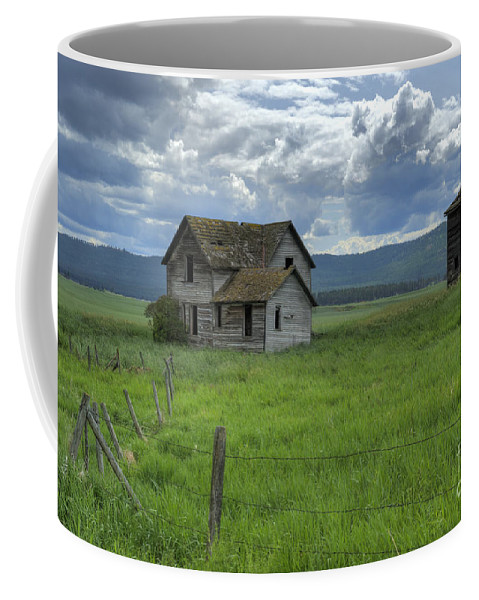 Hdr Coffee Mug featuring the photograph Storm Over Big Sky by Sandra Bronstein