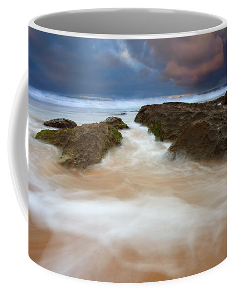 Seascape Coffee Mug featuring the photograph Storm Shadow by Mike Dawson