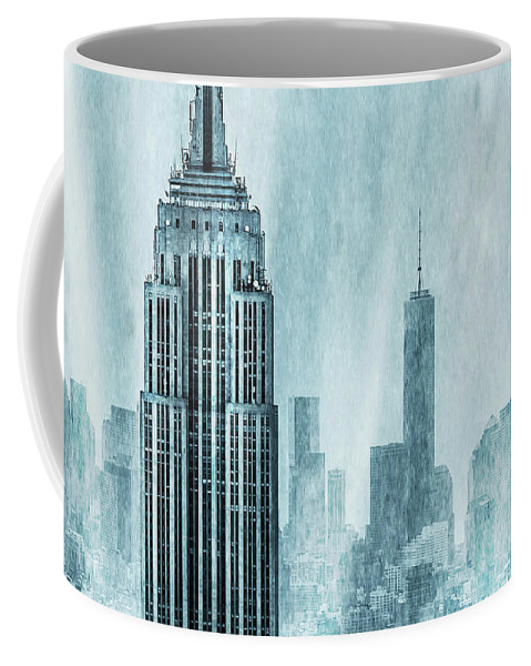 Empire State Building Coffee Mug featuring the digital art Storm Troopers by Az Jackson