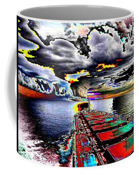 Storm Clouds Coffee Mug featuring the photograph Storm Warning by Tim Allen