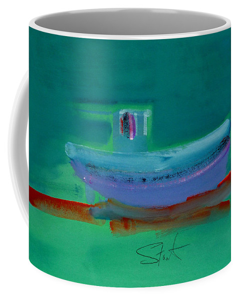 Deep Coffee Mug featuring the painting Stormbringer by Charles Stuart