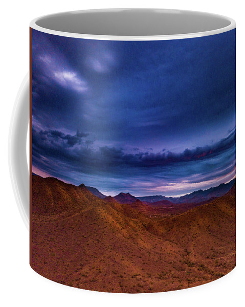 Drone Photography Coffee Mug featuring the photograph Stormline Above Mountains by David Stevens