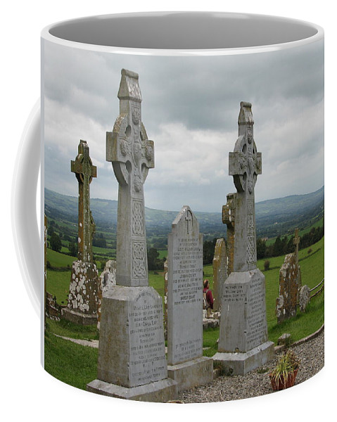 Celtic Cross Coffee Mug featuring the photograph Storms Comming by Kelly Mezzapelle