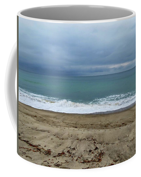 San Clemente Coffee Mug featuring the photograph Stormy Beach by Connor Beekman