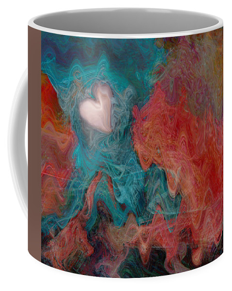 Hearts Coffee Mug featuring the digital art Stormy Love by Linda Sannuti