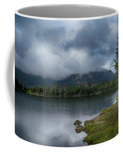 Lake Coffee Mug featuring the photograph Stormy Morning At Dillon by Marie Leslie