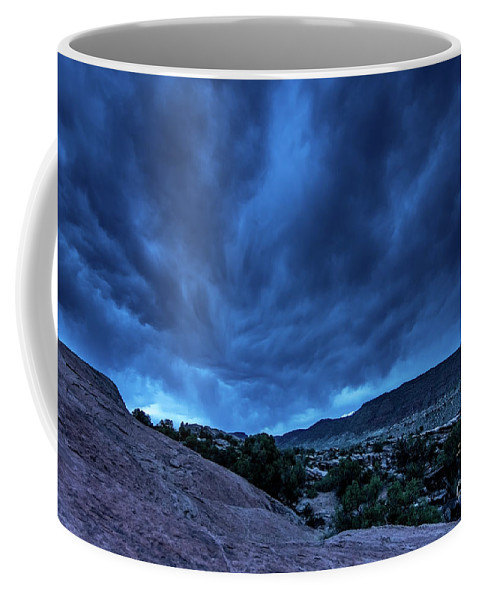 Utah Coffee Mug featuring the photograph Stormy Night Sky Arches National Park - Utah by Gary Whitton
