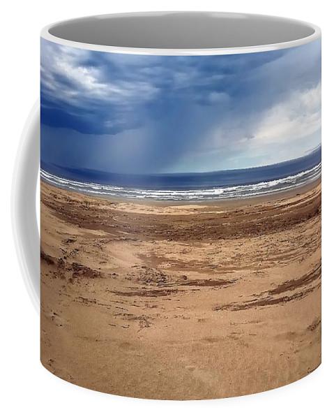 Nye Coffee Mug featuring the photograph Stormy Nye Beach by Jerry Sodorff