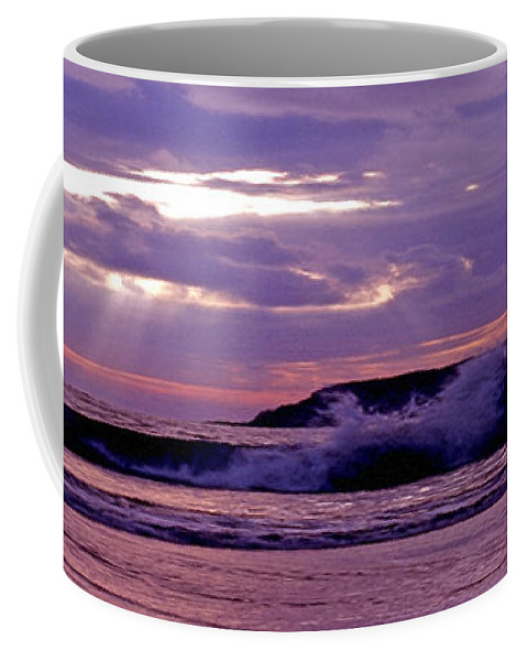 Stormy Coffee Mug featuring the photograph Stormy Ocean Panoramic by Sven Brogren