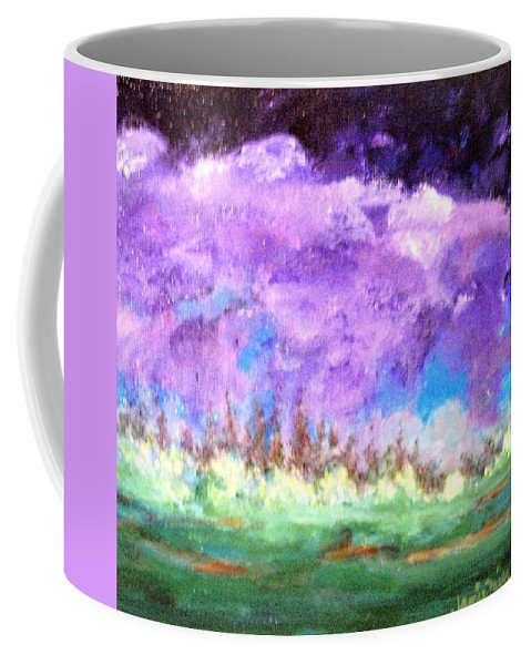 Abstract Coffee Mug featuring the painting Stormy Sky by Jamie Frier