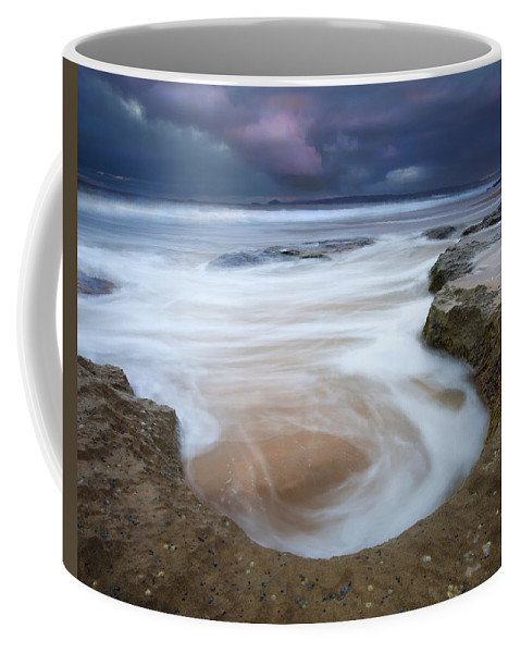 Sunrise Coffee Mug featuring the photograph Stormy Sunrise by Mike Dawson