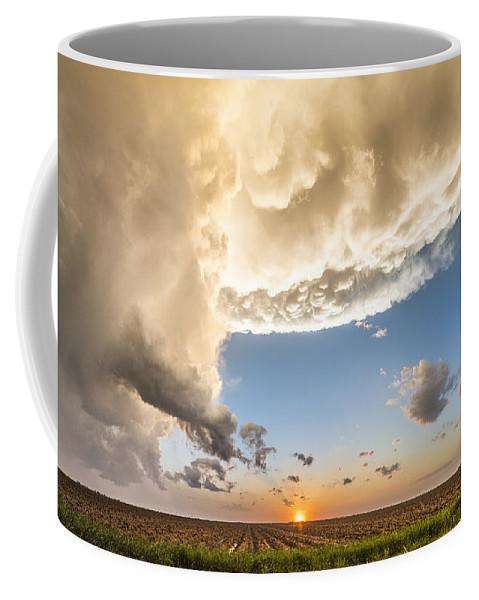 Storm Coffee Mug featuring the photograph Stormy Sunset by Brandon Sullivan