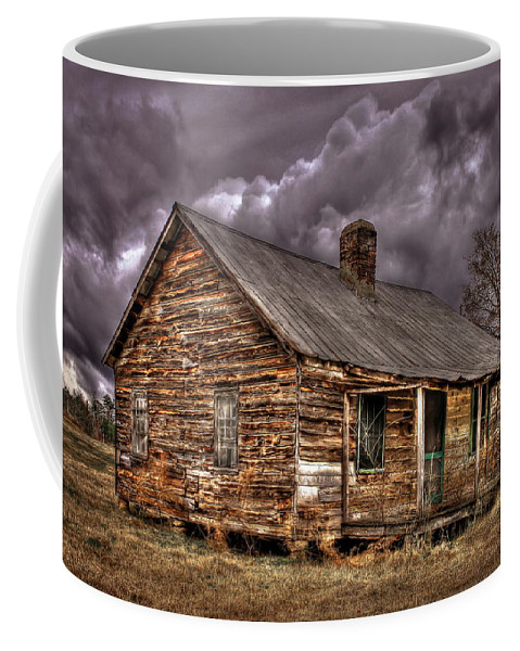 Reid Callaway The Shack Coffee Mug featuring the photograph Stormy Times Tenant House Greene County Georgia Art by Reid Callaway