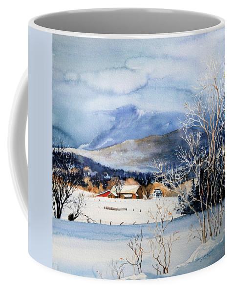 Stowe Valley Farm Painting Coffee Mug featuring the painting Stowe Valley Farm by Hanne Lore Koehler
