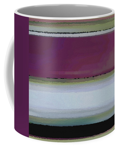 Abstract Coffee Mug featuring the digital art Straight Across by Ruth Palmer