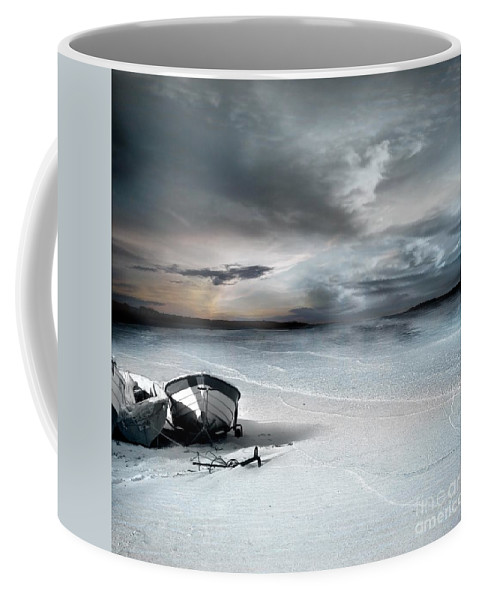Water Coffee Mug featuring the photograph Stranded by Jacky Gerritsen