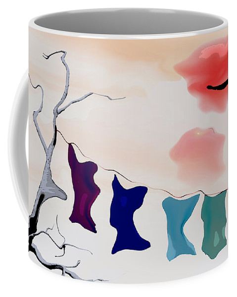 Strange Coffee Mug featuring the digital art Strange Afternoon by Richard Rizzo