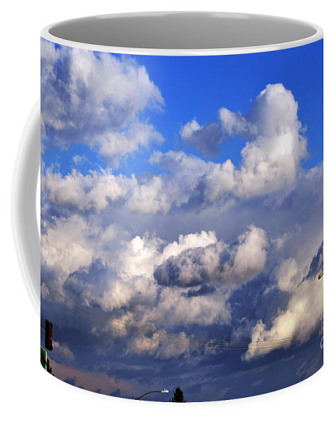 Clay Coffee Mug featuring the photograph Strange Clouds by Clayton Bruster