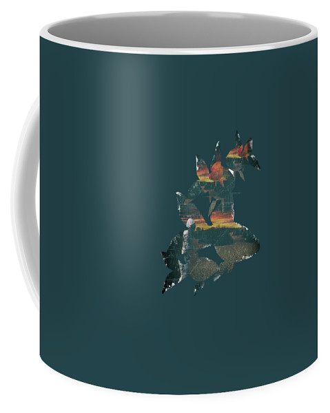 Astronaut Coffee Mug featuring the digital art Strange Encounter by Katherine Smit