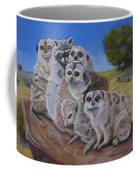 Meer Cat Coffee Mug featuring the painting Stranger In A Strange Land by Heather Coen