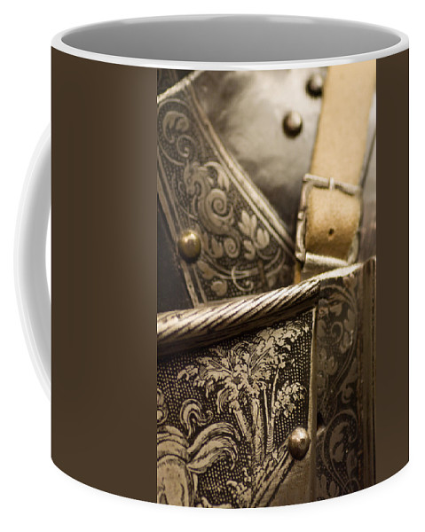 Knight Coffee Mug featuring the photograph Strapped In Steel by Scott Wyatt