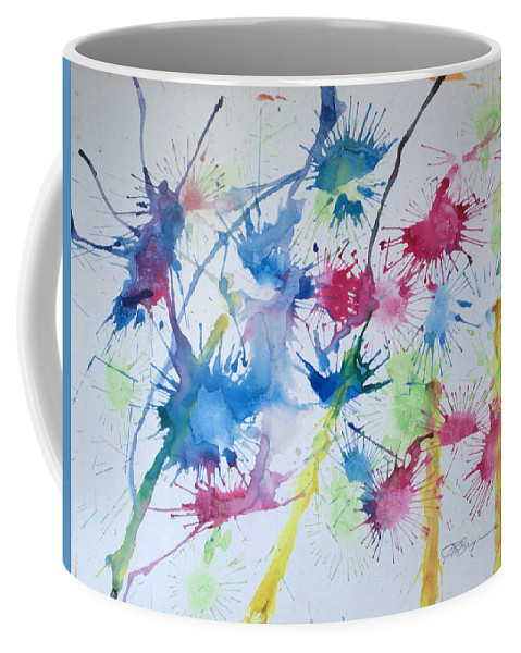 Straw Blown Painting Coffee Mug featuring the painting Straw Blown by J R Seymour