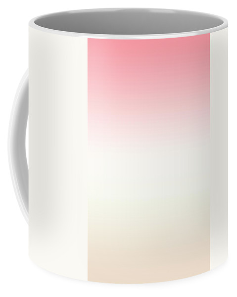 Strawberry And Vanilla Ice Cream With A Hint Of Chocolate - Abstract Coffee Mug featuring the digital art Strawberry And Vanilla Ice Cream With A Hint Of Chocolate - R Blended by Custom Home Fashions