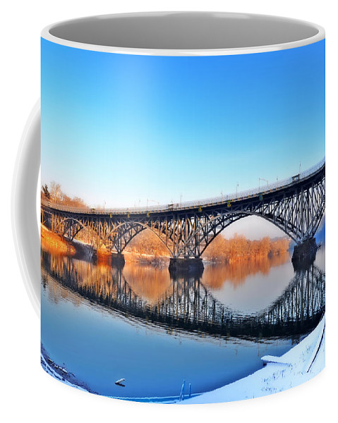 Strawberry Mansion Coffee Mug featuring the photograph Strawberry Mansion Bridge by Bill Cannon