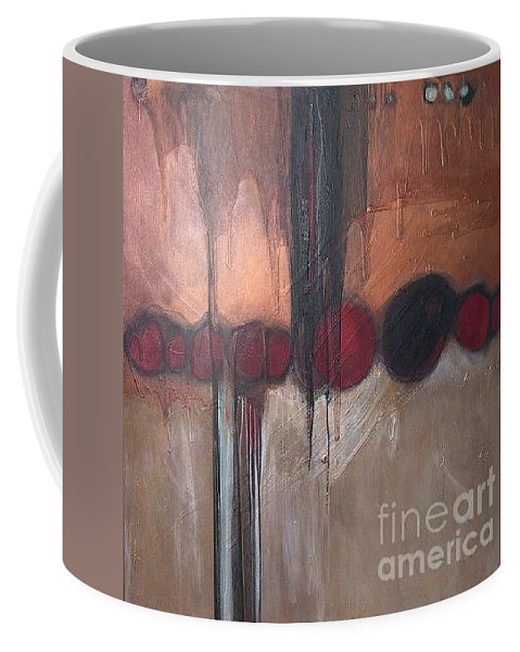Metallics Coffee Mug featuring the painting Streak by Marlene Burns