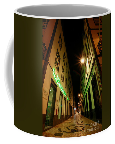 Portugal Coffee Mug featuring the photograph Street In Ponta Delgada by Gaspar Avila