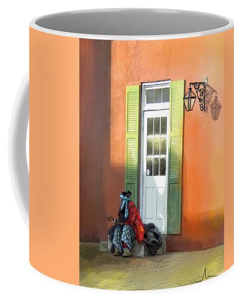 Memphis Art Coffee Mug featuring the painting Street Life In Memphis by Miki De Goodaboom