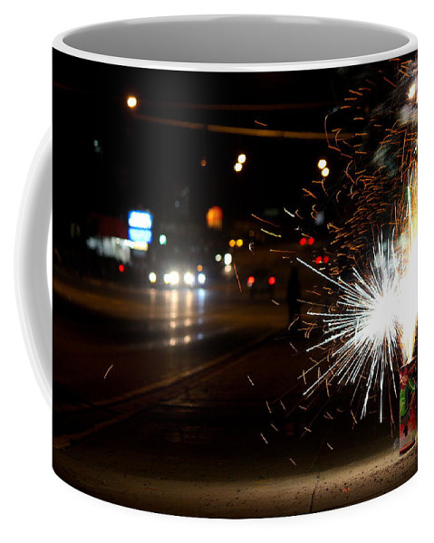 Travel Coffee Mug featuring the photograph Street Lights by Nicholas Miller