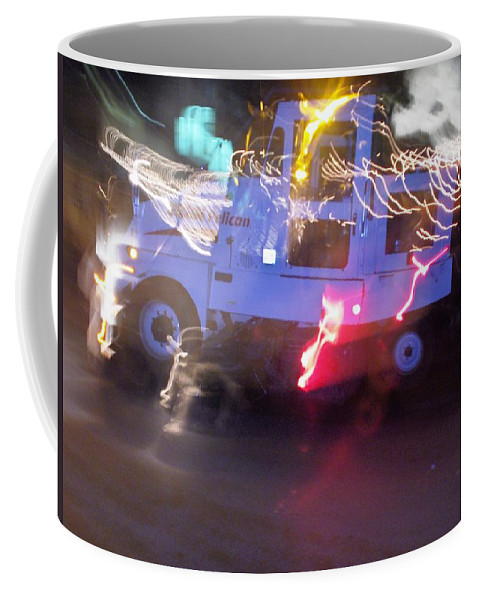 Photograph Coffee Mug featuring the photograph Street Sweeper by Thomas Valentine
