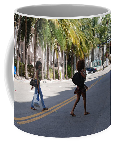 Girls Coffee Mug featuring the photograph Street Walkers by Rob Hans