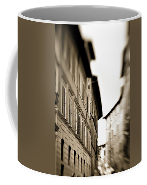 Ancient Coffee Mug featuring the photograph Streets Of Siena 2 by Marilyn Hunt