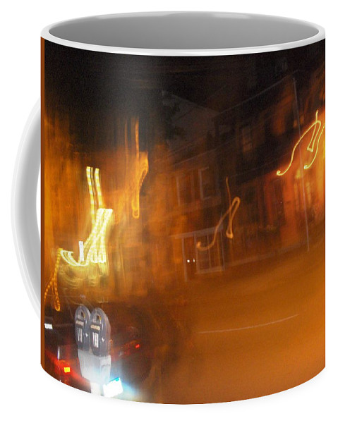 Photograph Coffee Mug featuring the photograph Streets On Fire by Thomas Valentine