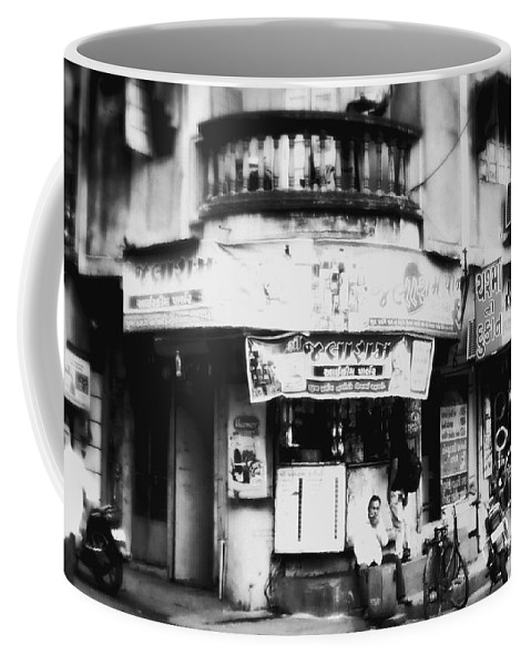 #street Photograohy #crossroads #street Corners #street Shops Coffee Mug featuring the photograph StreetShots_Surat by Priyanka Dave