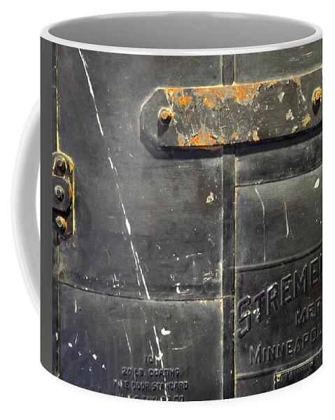 Firedoor Coffee Mug featuring the photograph Stremel Bros. Firedoor by Tim Nyberg
