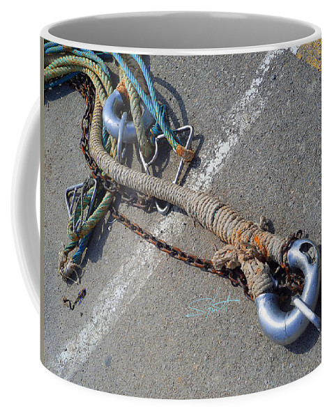 Fishing Net Coffee Mug featuring the photograph Strength In Depth by Charles Stuart