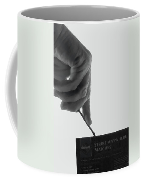 Abstract Coffee Mug featuring the photograph Strike It by Alan Look